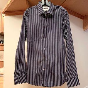 Men's EXPRESS Button Up Striped Dress Shirt